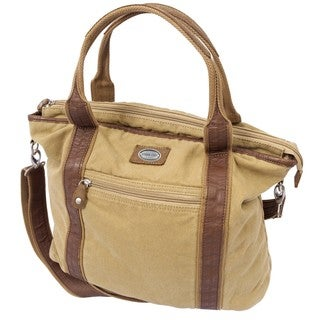 Canyon Outback Bentley 17-inch Wool and Leather Tote Bag