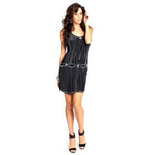Sara Boo Deep Beaded Dress