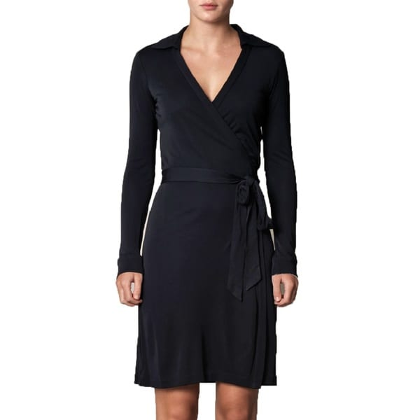 Diane von Furstenberg Jeanne Black Wrap Dress