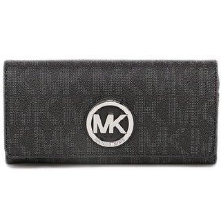 Michael Kors Fulton Black/Silver Carryall Wallet