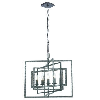Crystorama Capri Collection 5-light Raw Steel Chandelier