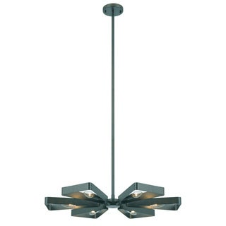 Crystorama Luna Collection 6-light Raw Steel Chandelier