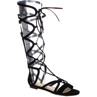 Beston DB01 Women's Lace Up Strappy Knee High Gladiator Sandals