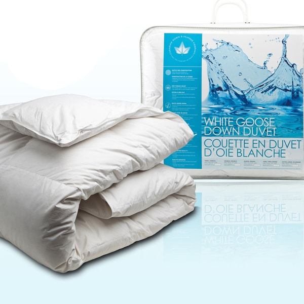 Canadian Down and Feather White Goose Down Comforter (All Season Weight)