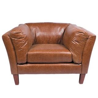 Alamo Brown Leather Club Chair