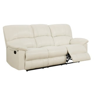 White Reclining Sofa