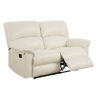 White Reclining Loveseat