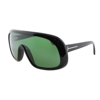 Tom Ford TF 471 Sven 01N Shiny Black Plastic Shield Sunglasses
