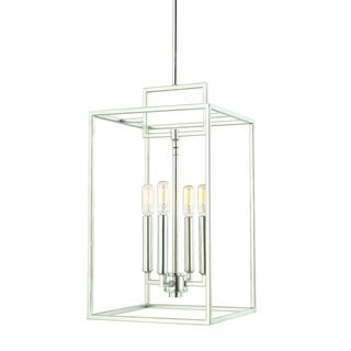 Austin Allen & Company Transitional 4-light Polished Nickel Foyer Fixture