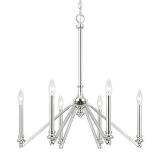 Austin Allen & Company Dylan Collection 6-light Polished Nickel Chandelier