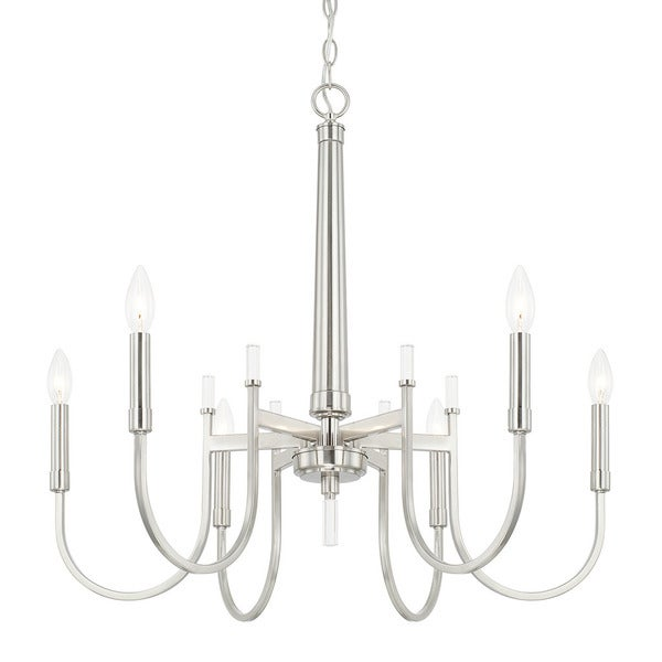 Austin Allen & Company Aiden Collection 6-light Brushed Nickel Chandelier