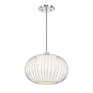 Austin Allen & Company Transitional 1-light Polished Nickel Pendant