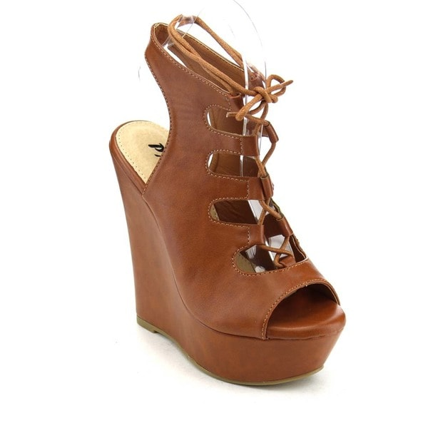 Pazzle Gb56 Women's Lace Up Wedge Sandals 17628763