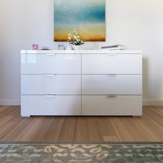 Simple Living High Gloss Zuri 6-drawer Chest