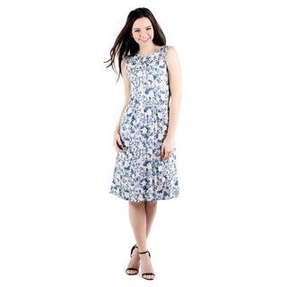 DownEast Basics Women's Sleeveless Knee Length Dress