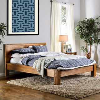 Furniture of America Marchez Rustic Plank Style Platform Bed