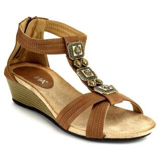 Anna Beth-1 Women's T-strap Wedge Sandals