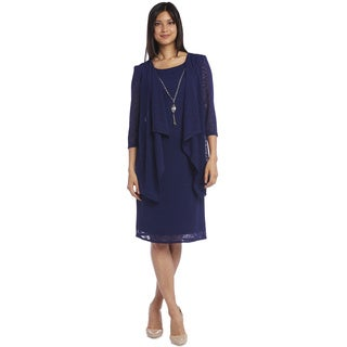 R&M Richards Blue Open Jacket Dress