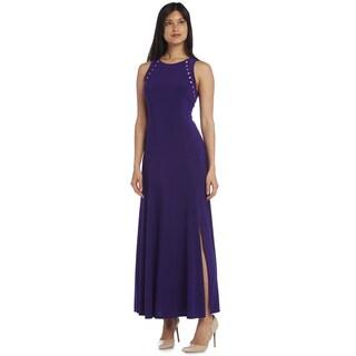 R&M Richards Beaded Long Dress