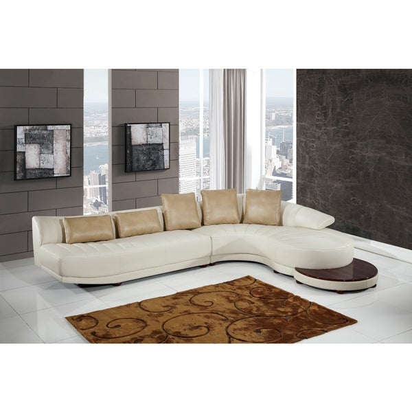 Blanche Milky/ Blanche Ivory Sectional + End Table