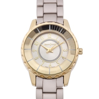 Auguste Jaccard Women's Scoria Goldtone Colored Bezel Tachymeter Watch