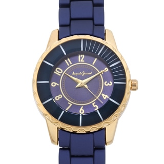Auguste Jaccard Women's Scoria Blue Colored Bezel Tachymeter Watch