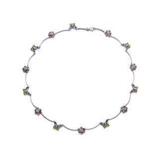 Collette Z Sterling Silver Butterfly Flower Necklace
