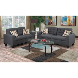 Pavia Loveseat and Sofa Upholstered in Polyfiber