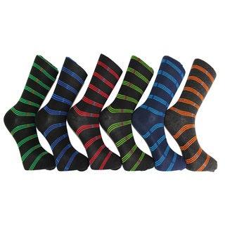 Men's Frenchic Premium Fashion Printed Dress Socks (12 Pair Pack)