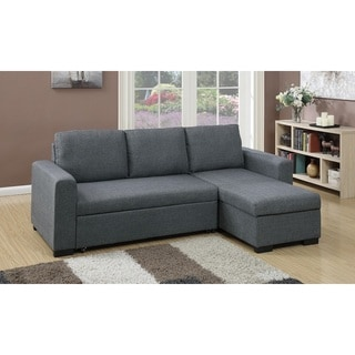 Cremona 2 Pieces Sectional Sofa Upholstered in Polyfiber