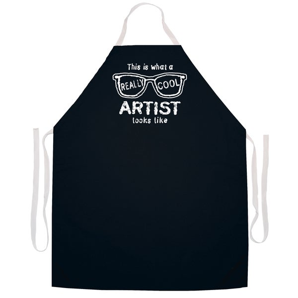 This Is What A Really Cool Artist Looks Like' Artist Apron-Black
