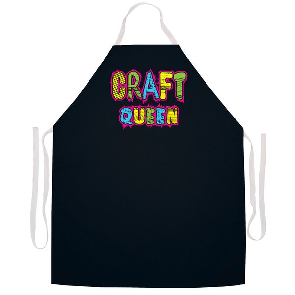 Craft Queen' Artist Apron-Black