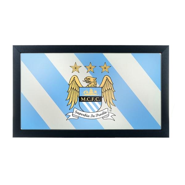 Premier League Manchester City Framed Logo Mirror