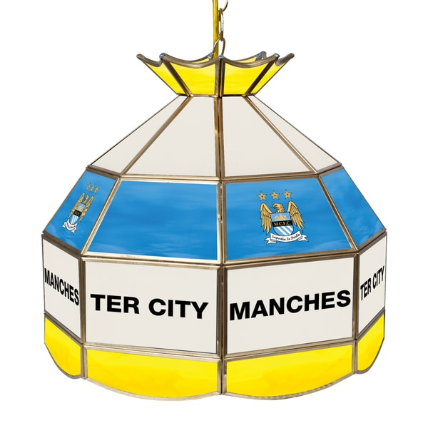 Premier League Manchester City 16 Inch Handmade Tiffany Style Lamp