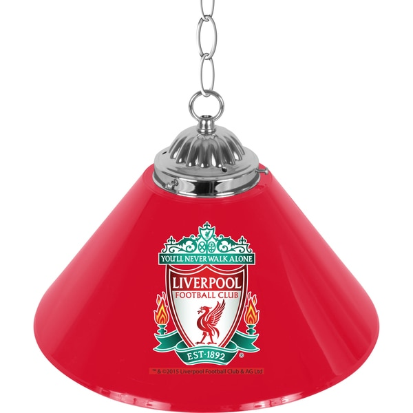 Premier League Liverpool Football Club Single Shade Chrome Bar Lamp