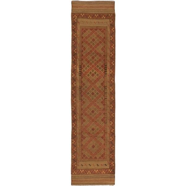 Ecarpetgallery Hand-knotted Tajik Caucasian Brown Wool Runner Rug (2'1 x 9'1) 17630941