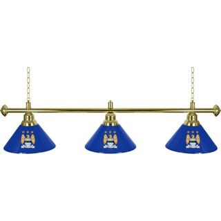 Premier League Manchester City 3 Shade Brass Bar Lamp