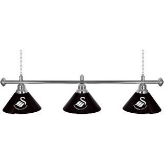 Premier League Swansea City 3 Shade Chrome Bar Lamp