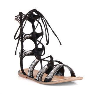 Hotsoles Shark Women's Beaded Gladiator Sandals