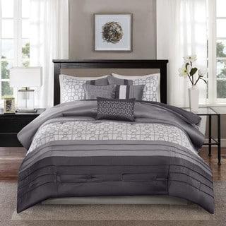Madison Park Jeffrey Grey 7-piece Comforter Set