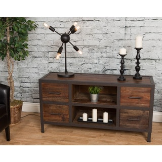 Furniture Of America 72 Inch Amber Corner Wall 5 Tier