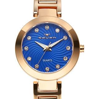 Tavan Women's Siren Austrian Crystal Accented Blue Dial Watch