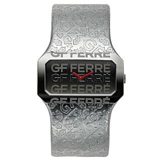 GF Ferre Women's Leather Stainless Steel Swiss Made Embossed Watch