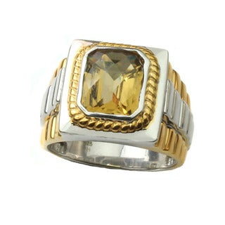 Michael Valitutti Mens Citrine Ring