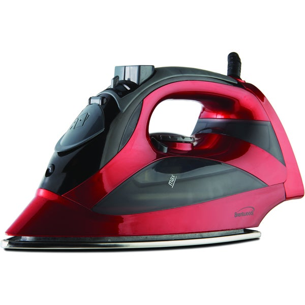 Brentwood MPI-90R Steam Red Iron with Auto Shut-Off