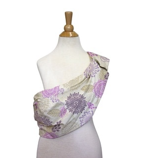 The Peanut Shell Cotton Adjustable Sling in Dahlia Print