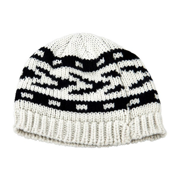 Black and Grey Toddler Knitted Beanie
