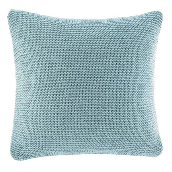 Nautica Bell Point Aqua Knit Decorative Pillow