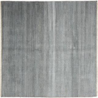 Super Fine Grass Sarosh Blue Hand-knotted Rug (7'10 x 8')
