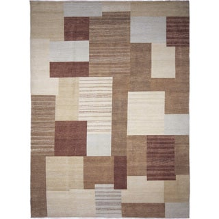 Super Fine Grass Rosa Beige Hand-knotted Rug (10' x 13'10)